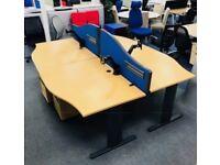 Beech wave desk cheap office furniture Harlow Essex London