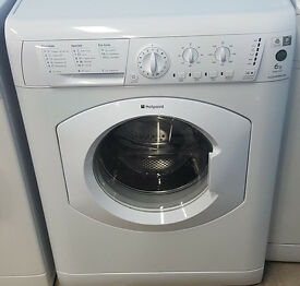 Z134 white hotpoint 6kg 1400spin washing machine comes with warranty can be delivered or collected