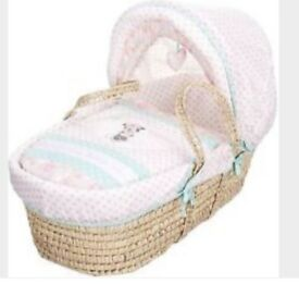Minnie Mouse pink Moses basket