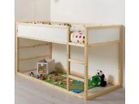 kids cabin/storage bed frame + matress