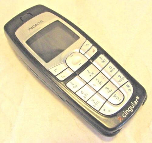 NOKIA 6010 Type NPM-10 Blue Silver Cell Phone - Cingular *UNTESTED*