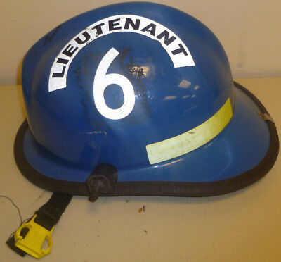 Firefighter Bunker Turn Out Gear Cairns 660 Blue Helmet Reflector H164