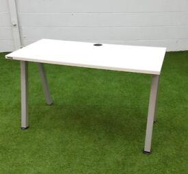 White angled leg desk cheap