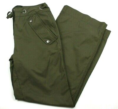 Tommy Hilfiger Cargo Pants Women's Size 4 Dark Green Drawstring Casual