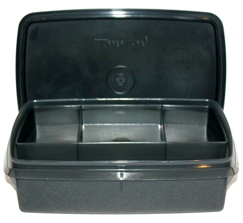 Tupperware Tuppercraft Divided Storage Box with Insert Recta
