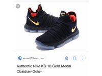 Nike Air Max KD 10 Gold - Rare and sold out everywhere