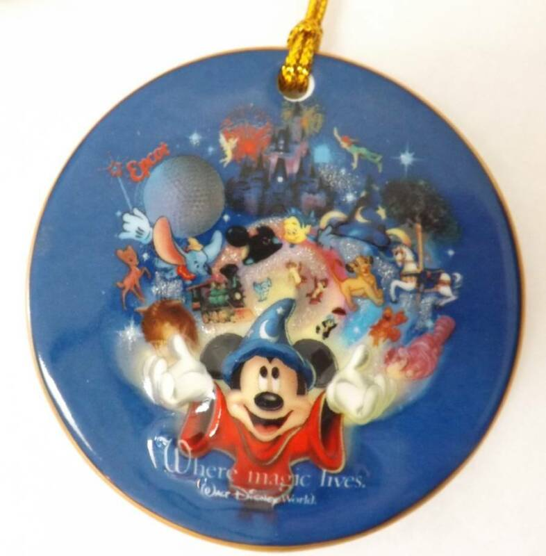 Walt Disney World Parks Where The Magic Lives Porcelain Ornament