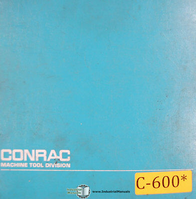 Conrac 255-sx Digicon Hydraulic Bender Instructions Wiring And Parts Manual