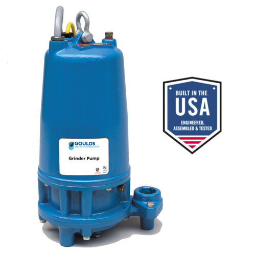 """XYLEM GOULDS SUBMERSIBLE GRINDER PUMP MODEL RGS2012 2 HP 1.25"""" NPT DISCHARGE"""