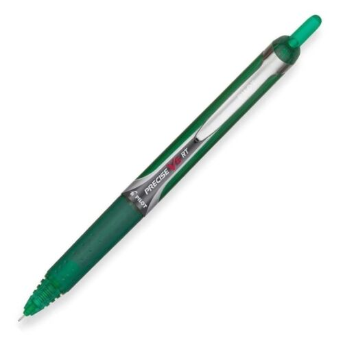 Pilot Rollerball Pen,Retract.,.5mm,Extra Fine Pnt,GN Barrel/