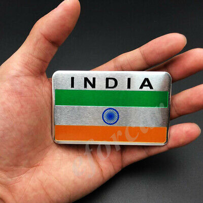 Aluminum India Indian Flag Car Emblem Badge Motorcycle Gas Tank Sticker Decals