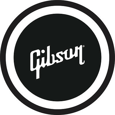 """Gibson Guitar 7/"""" Black and White Metal Sign"""