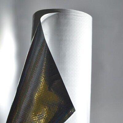 Reflective White Foil Insulation Radiant Barrier Scrim 4ft X 4ft Solid