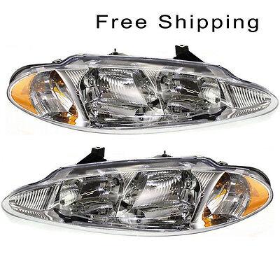 Halogen Head Lamp Assembly Set of 2 LH & RH Side Fits Chrysler Dodge Intrepid