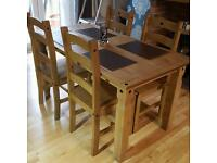 Corona / Mexican Pine dining table and coffee table
