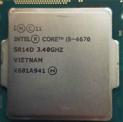 Intel i5-4670 Quad-Core 3.4GHz 6MB Socket LGA1150 CPU Processor SR14D