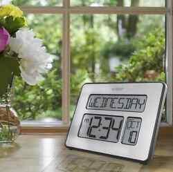 La Crosse Atomic Digital Full Calendar Wall Clock C86279 Extra Large Numbers New