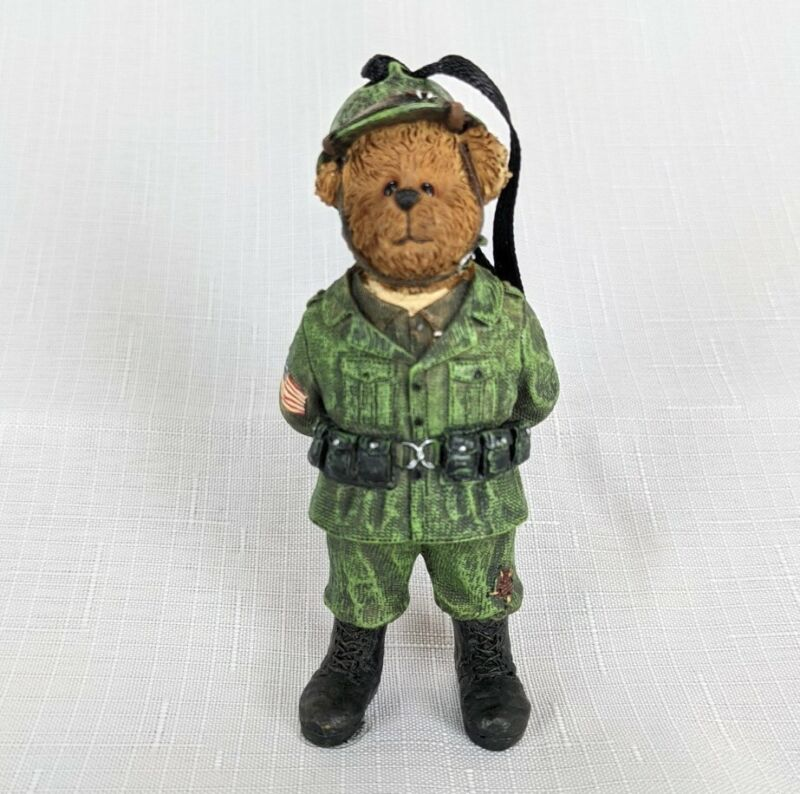 The Boyds Bear Collection Christmas Ornament Style # 257116 BB Army Ornament New