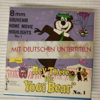 Yogi Bear No 1 Hey There It's Yogi Bear ca 15 m N 8mm s/w stumm deutsche UT NOS