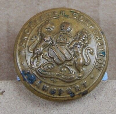 Vintage Manchester Transport Tunic Button 23mm Wm Dowler & Sons