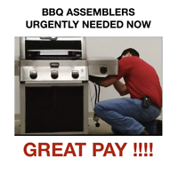 URGENT!! BBQ Assemblers wanted in MONCTON
