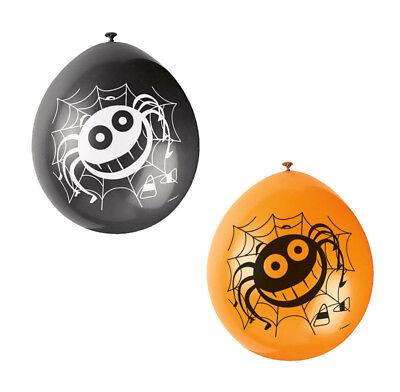 10 x Halloween SPIDER Balloons black & orange Mix Halloween Cheap Decorations - Halloween Balloons Cheap
