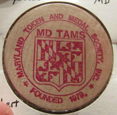 Vintage Robert Ruby TAMS Hampstead, MD Wooden Nickel - Token Maryland