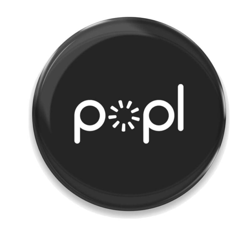 Popl Black Digital Business Card Phone NFC Tag