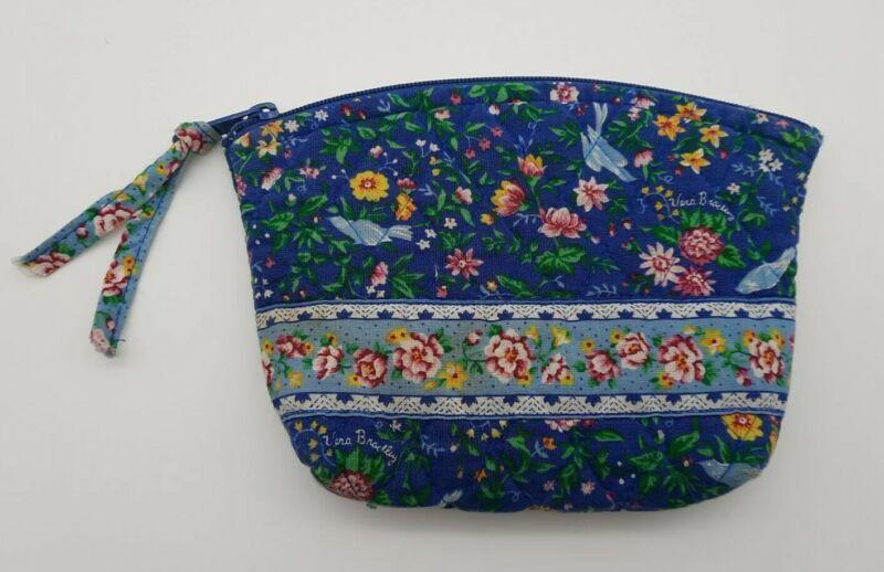 Vera Bradley Bluebird VINTAGE Retired Spring 1998 Cosmetic Bag Make Up Case