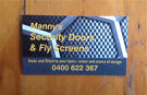 Fly screens & Security doors, made & installed