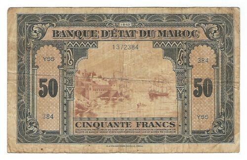 Morocco - 1943, 50 Francs