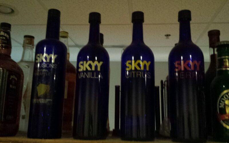 """Sky Vodka display bottle huge 18"""" tall set of 4"""
