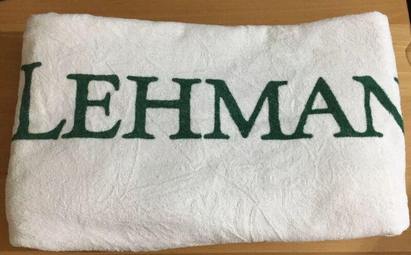 Genuine LEHMAN BROTHERS Big Beach Towel Good Condition