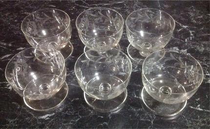 Vintage dessert bowls