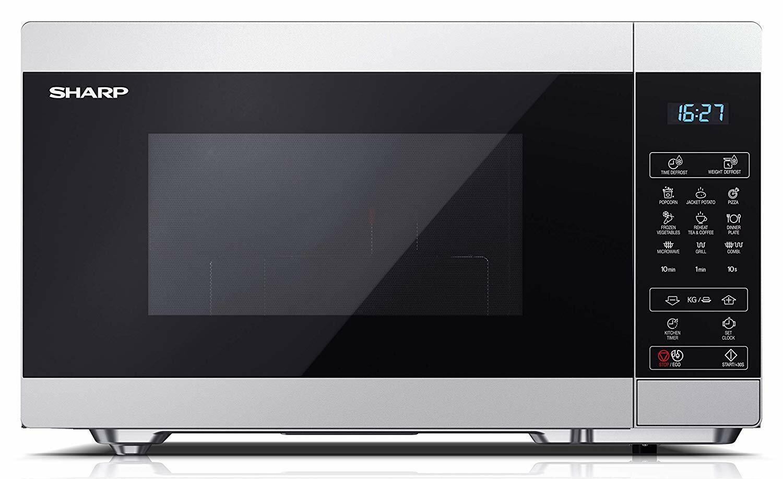 Mikrowelle Grillfunktion 1000 Watt 25 Liter 11 Leistungsstufen SHARP YC-MG51ES
