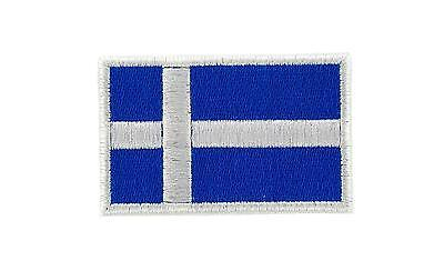 Flag patch patches backpack iron on shetland islands scotland