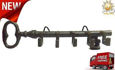 Keys Rack Holder Wall Mount Key Shaped w/ Hook Storage Organizer Home Hanger New