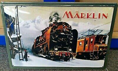 Marklin Trenes: Relieve (3D) Metal Publicidad Signo 30x20cm Steam/ Eléctrico