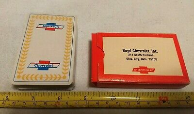 Vintage Boyd Chevrolet Oklahoma City Advertising Playing Cards Deck