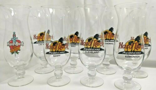Hard Rock Café Souvenir Hurricane Glasses Variety Different Cities Plus 25 Years