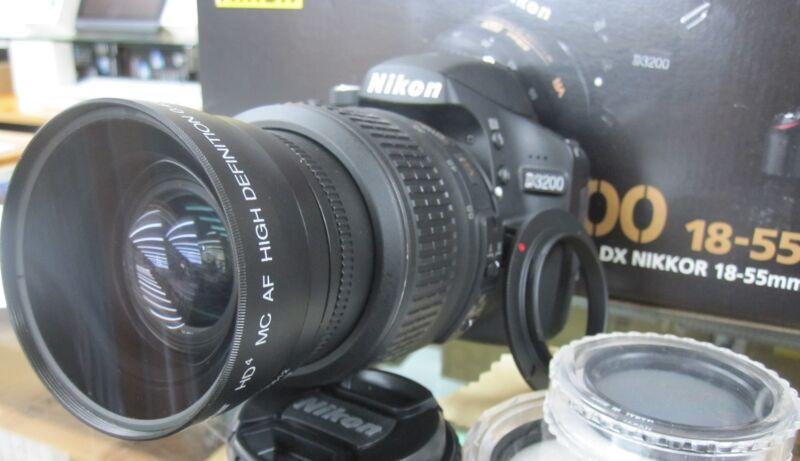 Wide Angle Macro Lens for Nikon d3000 d3100 d3200 d5100 d5000 d60 d40 w/18-55 fl