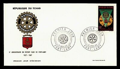 DR WHO 1968 CHAD FDC ROTARY INTL  C243274