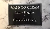 Residential cleaner looking for clients!!