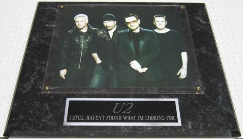 #1 FAN U2 EDGE BONO FRAMED 8X10 PHOTO-12X15 WALL PLAQUE DISPLAY DECOR album cd