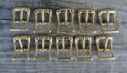 """Brass Plate Center Bar Buckles 10 Pack 1/2"""""""