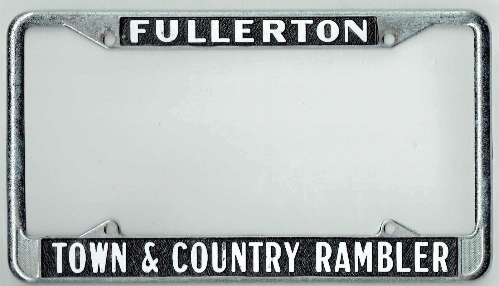 Fullerton California Town & Country Rambler Vintage Dealer License ...