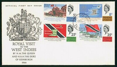 Mayfairstamps Trinidad and Tobago FDC 1966 Queen Visit to West Indies Combo Firs