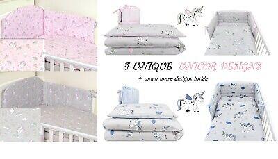UNICORN Designs BABY BEDDING SET COT 120X60-COT BED140X70 (Designer Baby Bedding Sets)