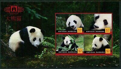 ANTIGUA & BARBUDA - 'ENDANGERED SPECIES - PANDA' Miniature Sheet  MNH  [A7555]