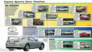 TOYOTA Sports Cars Timeline History Mini-Brochure: SERA,CELICA ...